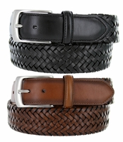 2349550 PGA TOUR Men's Braided Stretch Golf Belt - Brown