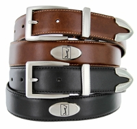2697500 PGA TOUR Men's Smooth Leather Golf Conchos Belt - Brown