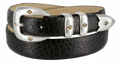 Tuscon Gold Men's Italian Calfskin Genuine Leather Designer Belt