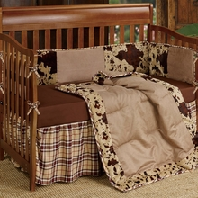 Cowhide Crib Set