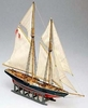 Bluenose Fishing Schooner 1/160 Scale #11 Mini-Mamoli Ships Wood Model Ship Kit, with a Carved Hull