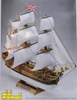 HMS Bounty #1 Mini-Mamoli Ships Wood Model Sailing Ship Kit with Carved Hull 1/135 scale
