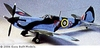 Spitfire Mk 1 #EB01 Easy Built Balsa Wood Model Airplane Kit Rubber Powered