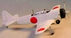 Zero Mitsubishi #EB05 Easy Built Models Balsa Wood Model Airplane Kit Rubber Powered