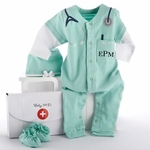 Baby Newborn MD Doctor Outfit (Personalization Avail)