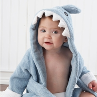 Shark Baby Hooded Robe (Personalization Avail)