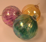 Locally Hand Blown Glass Ornaments