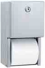 BOBRICK B-2888 DOUBLE ROLL SURFACE MOUNTED TOILET PAPER DISPENSER