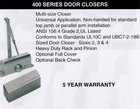 CAL ROYAL 420-P SERIES DOOR CLOSER ALUM ( click here to view and buy item )