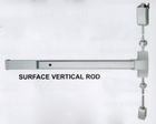 "CAL ROYAL 5000V3684 SURFACE MOUNTED VERTICAL ROD EXIT DEVICE FOR A 36"" X 84"" DOOR ( click here to view and buy item )"