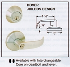 CAL ROYAL JHILDOV00 INTERCONNECTED KEYED LOCKSET (click here to view and buy item)