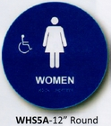 CAL ROYAL WHS-5A HANDICAP SIGN FOR WOMENS RR BLUE (click here to view and buy item)