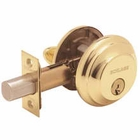 SCHLAGE BA360 SINGLE CYLINDER DEADBOLT 505 POLISHED BRASS