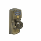 SCHLAGE CAMELOT KEYPAD LOCK WITH FLEX LOCK / GEORGIAN 609 ANTIQUE BRASS FINISH