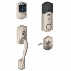 SCHLAGE CAMELOT STYLE CONNECT AND HANDLESET WITH ACCENT LEVER SATIN NICKEL ( click here to view and buy item )