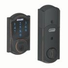 SCHLAGE CAMELOT STYLE CONNECT MATTE BLACK ( click here to view and buy item )