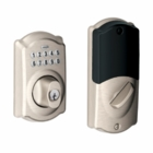 SCHLAGE CAMELOT STYLE CONNECTED DEADBOLT SATIN NICKEL ( click here to view and buy item )