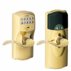 SCHLAGE CAMELOT STYLE CONNECTED KEYPAD LOCK BRIGHT BRASS ( click here to view and buy item )