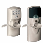 SCHLAGE CAMELOT STYLE CONNECTED KEYPAD LOCK SATIN NICKEL ( click here to view and buy item )