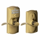 SCHLAGE CAMELOT STYLE KEYPAD ACCENT LEVER WITH FLEX LOCK ANTIQUE BRASS ( click here to view and buy item )
