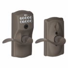 SCHLAGE CAMELOT STYLE KEYPAD ACCENT LEVER WITH FLEX LOCK OIL RUBBED BRONZE ( click here to view and buy item )