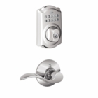 Schlage Camelot Style Keypad Deadbolt and Accent Lever Bright Chrome ( click here to view and buy item )