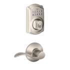 Schlage Camelot Style Keypad Deadbolt and Accent Lever Satin Nickel ( click here to view and buy item )
