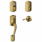 Schlage Camelot Style Keypad Deadbolt and Handleset with Accent Lever  Antique Brass ( click here to view and buy item )