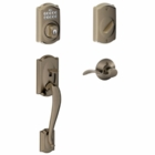 Schlage Camelot Style Keypad Deadbolt and Handleset with Accent Lever Antique Pewter ( click here to view and buy item )