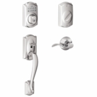 Schlage Camelot Style Keypad Deadbolt and Handleset with Accent Lever  Bright Chrome ( click here to view and buy item )