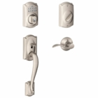 Schlage Camelot Style Keypad Deadbolt and Handleset with Accent Lever  Satin Nickel ( click here to view and buy item )