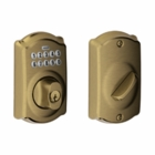 SCHLAGE CAMELOT STYLE KEYPAD DEADBOLT ANTIQUE BRASS ( click here to view and buy item )