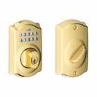 SCHLAGE CAMELOT STYLE KEYPAD DEADBOLT BRIGHT BRASS ( click here to view and buy item )