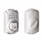 SCHLAGE CAMELOT STYLE KEYPAD DEADBOLT BRIGHT CHROME ( click here to view and buy item )