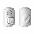 SCHLAGE CAMELOT STYLE KEYPAD DEADBOLT SATIN CHROME ( click here to view and buy item )