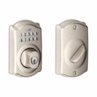SCHLAGE CAMELOT STYLE KEYPAD DEADBOLT SATIN NICKEL ( click here to view and buy item )