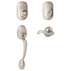 Schlage Camelot Style Keypad Flair Lever with Flex Lock Satin Nickel  ( click here to view and buy item )