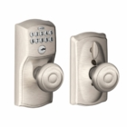 SCHLAGE CAMELOT STYLE KEYPAD GEORGIAN KNOB WITH FLEX LOCK SATIN NICKEL ( click here to view and buy item )