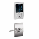SCHLAGE CENTURY STYLE CONNECT WITH ACCENT LEVER BRIGHT CHROME ( click here to view and buy item )