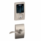 SCHLAGE CENTURY STYLE CONNECT WITH ACCENT LEVER SATIN NICKEL ( click here to view and buy item )