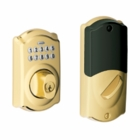 SCHLAGE CONNECTED KEYPAD DEADBOLT  BRIGHT BRASS ( click here to view and buy item )