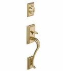 SCHLAGE F58 ADDISON EXTERIOR HANDLESET 505 FINISH POLISHED BRASS (click here to view and buy item)
