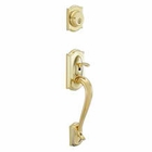 SCHLAGE F58 CAMELOT EXTERIOR HANDLESET 505 POLISHED BRASS (click here to view and buy item)