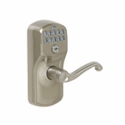 SCHLAGE PLYMOUTH KEYPAD LOCK WITH FLEX LOCK / FLAIR 619 SATIN NICKEL FINISH
