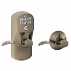 SCHLAGE PLYMOUTH STYLE KEYPAD ACCENT LEVER WITH AUTO LOCK ANTIQUE PEWTER ( click here to view and buy item )