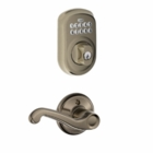 Schlage Plymouth Style Keypad Deadbolt and Flair Lever Antique Pewter ( click here to view and buy item )