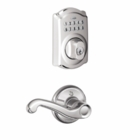 Schlage Plymouth Style Keypad Deadbolt and Flair Lever Bright Chrome ( click here to view and buy item )