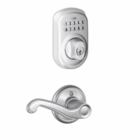 Schlage Plymouth Style Keypad Deadbolt and Flair Lever Satin Chrome ( click here to view and buy item )