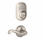 Schlage Plymouth Style Keypad Deadbolt and Flair Lever Satin Nickel ( click here to view and buy item )