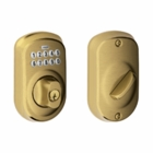 SCHLAGE PLYMOUTH STYLE KEYPAD DEADBOLT ANTIQUE BRASS ( click here to view and buy item )